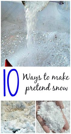 Make pretend snow with common household ingredients - from Blog Me Mom