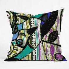 Randi Antonsen Birds Blue Throw Pillow | DENY Designs Home Accessories