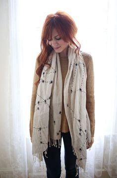 DIY: constellations scarf