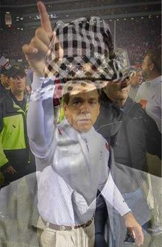 Bear Bryant and Nick Saban - this is cool!