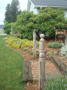 old wooden porch columns | ... are topped with simple wooden balls I bought at HD and aged with time