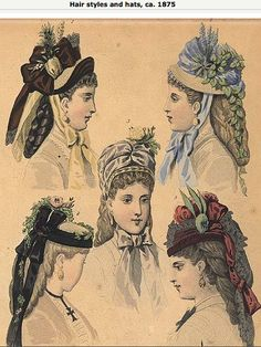 1875 hats and hairstyles