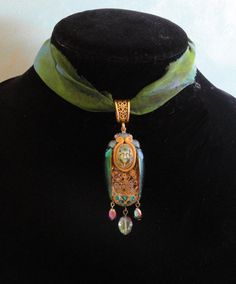 Egyptian Scarab choker  Steam Punk by gloryhounddesigns on Etsy, $76.00
