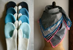 DIY Super Fun mitten and scarf tutorial