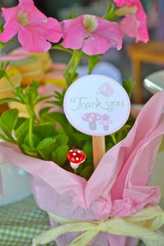 Garden Tea Party - guests took home little potted flowers as favors