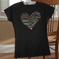 Her Heart of Love Personalized Ladies Fitted Tee