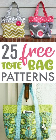 25 Free Tote Bag Patterns - A Little Craft In Your Day