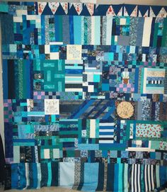 QN creative editor Lori recently finished the pieced back of a quilt.