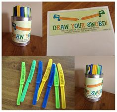 "Sword Drills with props - love this!  Katie made a printable label for the jar and a list of verses.  From her ""Look to Him and be Radiant"" blog.  Thanks, Katie Anne, love your work!"