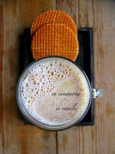 White Hot Chocolate with cinnamon and vanilla.