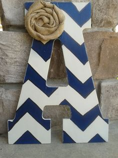Chevron wood letter...cute and easy DIY project