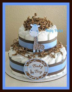 Giraffe Diaper Cake. $27.00, via Etsy.