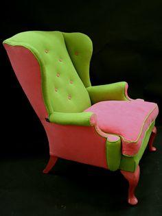 treacl furnitur, treacl tart, winged back chair, queen chair