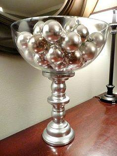 DIY Pedestal bowl. Love this idea!