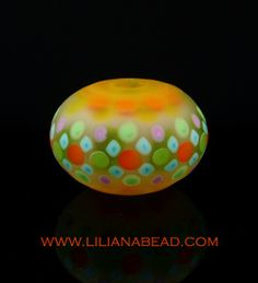 Large Focal Hollow Bead by Liliana Glenn