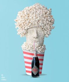 Dan Cretu's popcorn food sculpture