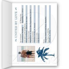Cruise Wedding Passport Invitation- but put reception info on it too @Caitlin Burton Burton Delanis