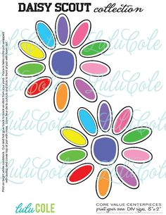 INSTANT DOWNLOAD  Daisy Scout Values Ceremony Party by lulucole, $10.00