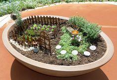 Mini veggie garden