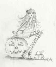 Bella Pilar  fashion illustration halloween