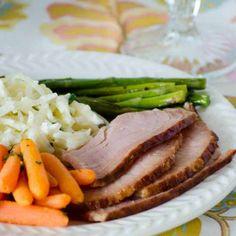 Slow Cooker Honey Glazed Ham
