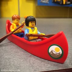 LEGO city set with a camper and canoe. Super cute.