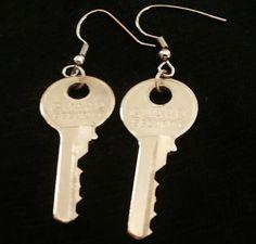 House Key Earrings by Abelle72 on Etsy