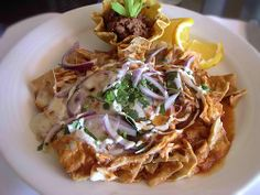 Traditional Mexican Food Breakfast - Chilaquiles
