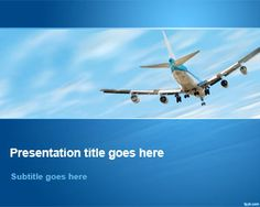 Free Airplane Flying Away in Sky PowerPoint Template | Free Powerpoint Templates