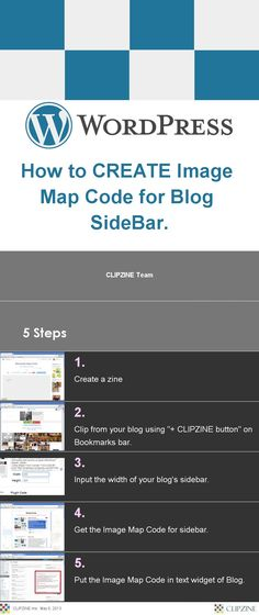 How to CREATE Image Map Code for Blog SideBar.