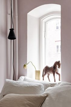 Blush bedroom - via