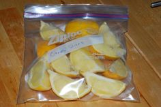 Freezing lemons and limes for cooking, the same applies for apples and berries