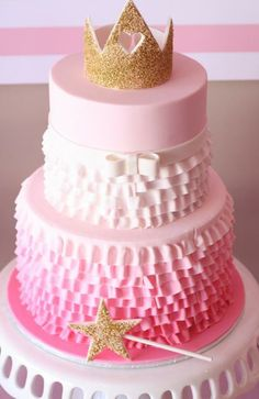 love it!  I'm sure my princess would love a 1-tiered version of this for her bday.