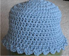 Baby blue Hat free crochet pattern