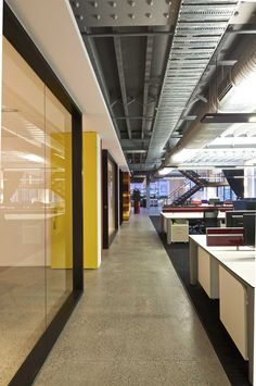open office | glass fronts | open ceiling