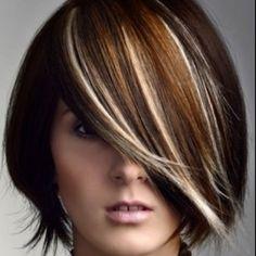 fun highlights, hair colors, color schemes, color combos, hair color short hair, new hair, beauti inspir, hair color ideas, hair style