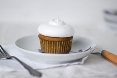 Always With Butter: Pumpkin Cupcakes with Cloud Frosting