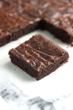 These were really like fudge! Delish! And super easy! I just melted choc chips with the butter in the microwave....   Fudgy Brownies Recipe from www.inspiredtaste.net - Rich chocolate brownies recipe with cocoa powder, butter, sugar and eggs. Easy one-bowl recipe.