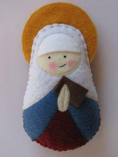 Saint Anne Felt Saint Softie. $18.00, via Etsy.