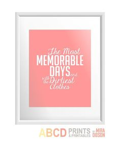 Laundry room quote print