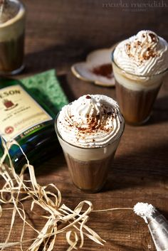 Irish Coffee Shooters (Hot or Iced)   Cocktail Recipe on FamilyFreshCooking.com