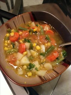 A garden vegetable soup I made...Daniel's Fast recipe