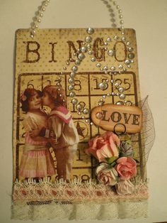 Altered Bingo Card ~Love by Marla Rizzo