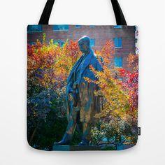Tomas Garrigue Masaryk Statue Tote Bag by Ashley Hirst  - $22.00