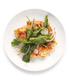 Chicken Milanese With Arugula Salad recipe: Chicken breasts grill faster when split in half and pounded thin.