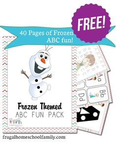 Free Frozen-Themed ABC Printables Pack