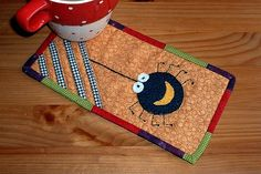 Spider Mug Rug by The Patchsmith, via Flickr