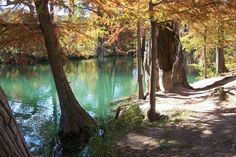 Medina river in Bandera Texas