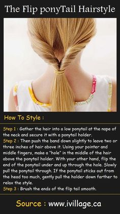 The Flip ponyTail Hairstyle Tutorial