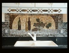 cool mosaic backsplash